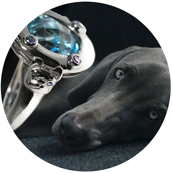 hamdemade jewellery dog