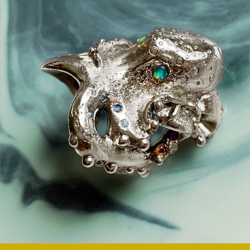 octopus ring ago handcrafted jewellery handmade